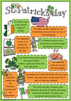 Saint Patrick's Day interactive and downloadable worksheet. You can do the exercises online or download the worksheet as pdf.