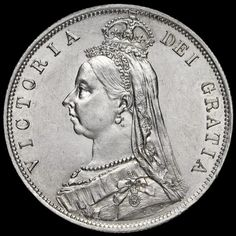1887 Queen Victoria Jubilee Head Silver Half Crown, A/UNC