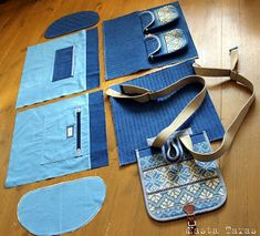 New patchwork jeans tasche Ideas Patchwork Jeans, Denim Backpack, Denim Bag, Recycle Jeans, Old Jeans, Bag Patterns To Sew, Fabric Bags, Handmade Bags, Bag Making