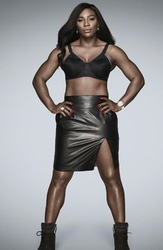 Image result for serena williams fashion #MuscleGirls Serena Williams Photos, Venus And Serena Williams, S Williams, Hottest Female Celebrities, Black Fitness, Muscle Girls, African American Women, Poses, Beautiful Black Women