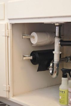 Use your under the sink space, and store your trash bags on a roll under the kitchen sink.