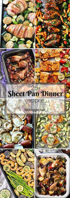 25+ Sheet Pan Dinner Recipes   http://NoBiggie.net