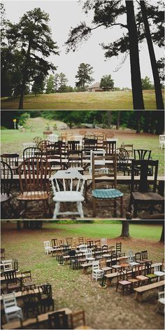 Eclectic Outdoor Reception Seating Blog — Lauren Apel Photo /// I really love all the different chairs