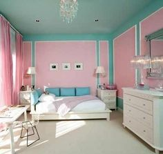 1000 images about tumblr rooms teenage bedrooms on - Turquoise and pink bedroom ...