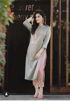15 Latest Designs Of Plazo with Kurti For Woman in 2018 Party Wear Indian Dresses, Pakistani Dresses Casual, Dress Indian Style, Pakistani Dress Design, Indian Outfits, Indian Gowns, Salwar Designs, Kurta Designs Women, Kurti Designs Party Wear
