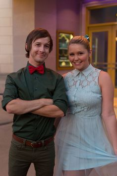 They met as cast members at the Disney parks. He was Peter Pan, she was Wendy. They went on to get married!!