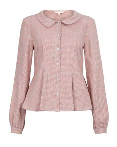 Langton Shirt from Cabbages and Roses - my ideal Peter Pan collar shape.