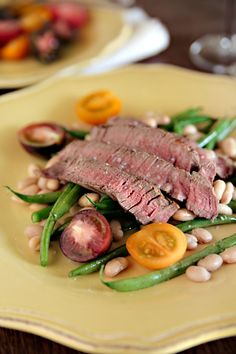 Steak With Warm Bean Salad @Hannah