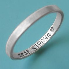 Simple ring with a message from your loved one that only you can see. Special for long distance relationships....pinned by ♥ wootandhammy.com, thoughtful jewelry.