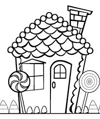Gingerbread House Coloring Pages See More Image Result For Candyland Free Printables