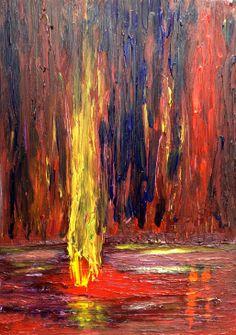 """Eternal Flame 11x16"""" acrylic."""