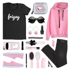 """Happy Weekend!"" by lgb321 ❤ liked on Polyvore featuring Forever 21, Yves Saint Laurent, Casetify, OPI, Vans, LeSportsac, Gucci, H&M, ZeroUV and NARS Cosmetics"