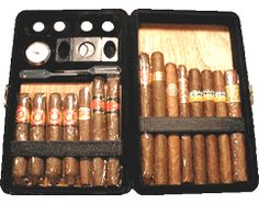 Csonka Cigar Valet, 12-14 Cap. Leather Travel Case