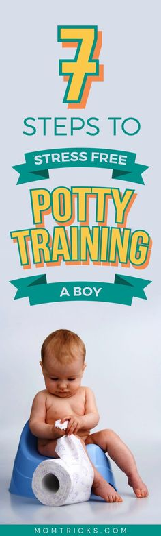 With these 7 guaranteed tips to potty train a boy, you'll have him using the toilet mess-free very quickly and easily. Must-read advice!