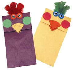 Use this concept to create Angry Bird puppets.