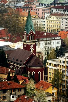 Church in Sarajevo, Bosnia-Herzegovina photographed by Reinier van Oorsouw