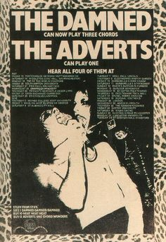 the damned can now play three chords  the adverts can play one    hear all four of them at