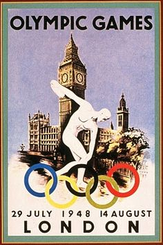 vintage everyday: Summer Olympic Games Over the Years through Historical Posters Summer Games, Winter Games, London Summer Olympics, 1936 Olympics, Olympic Logo, London Olympic Games, Modern Games, Olympic Medals, Vintage Graphic Design