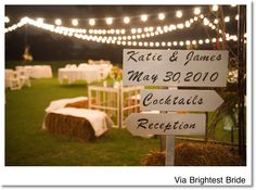 String lights are perfect to light up all your wedding reception spaces! http://www.partylights.com/String-Lights-Sets