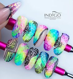Nail Art Designs Videos, Nail Art Videos, Nail Designs, Crazy Nail Art, Crazy Nails, Bling Nails, Stiletto Nails, Ten Nails, Airbrush Nails