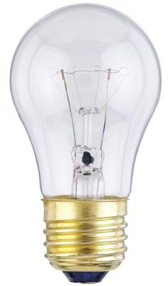 40 Watt A15 Incandescent Light Bulb, 2700K Clear E26 (Medium) Base, 130 Volt, Box (2-Pack)