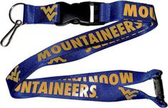 Mountaineer NCAA College Keystrap WinCraft West Virginia University Lanyard