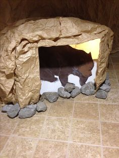 Bear cave decoration for Sonrise National Park VBS 2014 First Baptist Church of…