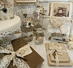 This week's whites  include what I've been working on for the barn sale and for the shop   I have had a stash of  bottles  and books for a...