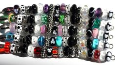 Here is proof that you can have a basic black and white bracelet and then color groups of 4-5 glass beads and have that many different bracelets!  How can you not LOVE Trollbeads.  PLEASE re-pin this photo to share the concept!