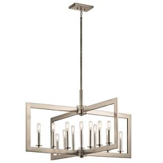 You can customize the transitional style of the Kichler Cullen 13-light chandelier thanks to its adjustable rotating arms. Finished in Classic Pewter.