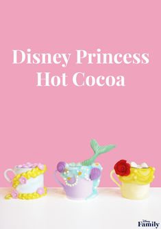 Be Our Guest and Put Our Disney Princess Hot Cocoa to the Test Walt Disney, Disney Diy, Disney Food, Disney Snacks, Disney Crafts, Disney Family, Chocolate Candy Melts, Melting White Chocolate, Hot Chocolate