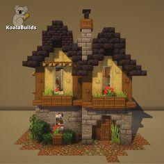 Minecraft Cottage, Minecraft Castle, Cute Minecraft Houses, Minecraft Funny, Minecraft Blueprints, How To Play Minecraft, Minecraft Crafts, Minecraft Buildings, Minecraft Ideas