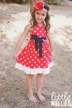MINNIE MOUSE Inspired Dress by LittleWellies on Etsy, $52.00