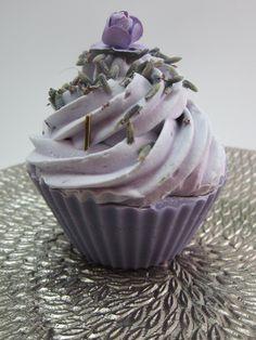 Lavender essential oil cupcake soap!