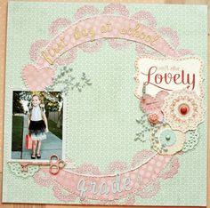 Gallery Search: My mind's eye sweetest thing Project 11, Websters Pages, Image Layout, Ranger Ink, First Day Of School, Coral Color, New Beginnings, Homemade Cards, Sweetest Thing