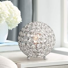 Brasero Chrome High Crystal Ball Sequin Accent Table Lamp is a quality Novelty Lamps for your home decor ideas. Cheap Table Lamps, Table Lamps For Bedroom, Novelty Lamps, Fixture Table, Contemporary Table Lamps, Modern Light Fixtures, Lamp Sets, Ceiling Pendant, Living Room Lighting