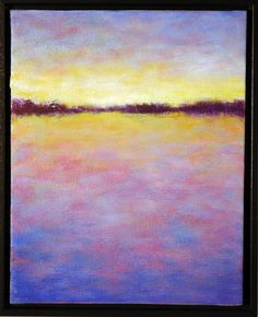 Original oil painting on canvas purple yellow by VictoriaVeedell