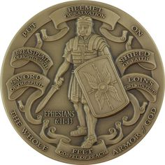 The Whole Armor of God Ephesians Challenge Coin Bible For Kids, My Bible, Ephesians 6 11, Father Son Holy Spirit, Bible Games, Post Quotes, Christian Devotions, Serve The Lord, Armor Of God