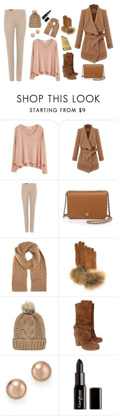 Cooling Brown by dinyvia on Polyvore featuring MANGO, Loro Piana, Prada, Tory Burch, Bloomingdale's, Maison Margiela, FRR, Chicnova Fashion, Gorgeous Cosmetics and Winter