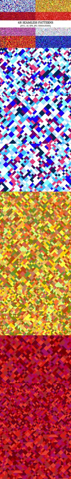 48 Seamless Geometrical Patterns #BackgroundSets #BackgroundCollection #repeat #abstract #abstractbackground #abstract #seamlesspattern #seamlesspattern #PremiumBackgrounds #BackgroundSet #patterns #seamlesspattern #pattern #backdrop #abstractbackgrounds #MulticolorBackgrounds #background #seamless #CheapVectorBackgrounds