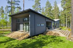 Photo 1 of 12 in 12 Scandinavian Prefabs That Embody High-Design Hygge from These 8 Log Cabin Kit Homes Celebrate Nordic Minimalism - Dwell Log Cabin Home Kits, Cabin Kit Homes, Small Log Cabin Kits, Log Homes, Prefab Log Cabins, Modern Log Cabins, Modern Prefab Homes, Modular Homes, Bungalow