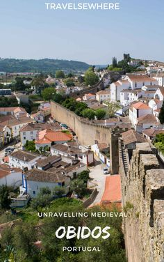 A delightfully colourful walled town, Obidos in Central Portugal is home to fascinating history and literary culture and also happens to be a great day trip from Lisbon, via @travelsewhere