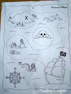 Printable Treasure Maps for preschool! Preschool Pirate Theme, Pirate Activities, Map Activities, Preschool Crafts, Activities For Kids, Treasure Maps For Kids, Pirate Treasure Maps, Pirate Maps, Summer Crafts For Toddlers