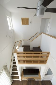 Pin on Arsitektur Home Room Design, Tiny House Design, Home Interior Design, Interior Architecture, Loft House, House Stairs, House Rooms, Staircase Design, Minimalist Home