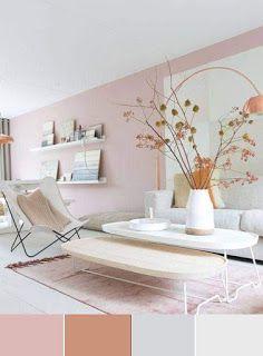 Pastel Living Room Paint Colors Ideas – Home Design Pastel Living Room, Paint Colors For Living Room, Pink Living Rooms, Blush Pink Living Room, Pastel Room Decor, Room Color Schemes, Room Colors, Wall Colors, Living Room Designs