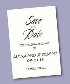 Cherish Letterpress Save the Date Card