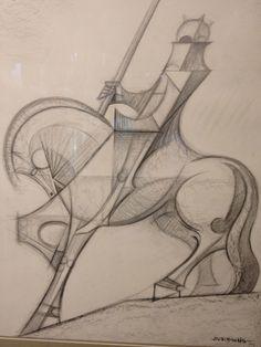 Gaudi cathedral art sketch horse