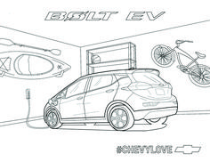 Load up on endless adventures without leaving your home in the All-Electric Chevy Bolt EV. Share your masterpiece. Coloring Pages For Kids, Coloring Books, Kids Coloring, Chevy, Chevrolet, School Design, Projects To Try, Electric, Trucks