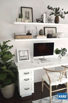 Cozy home office decor simple ideas Cozy Home Office, Home Office Space, Home Office Design, Home Office Decor, Office Ideas, Office Inspo, Office Spaces, Office Furniture Inspiration, Workspace Inspiration