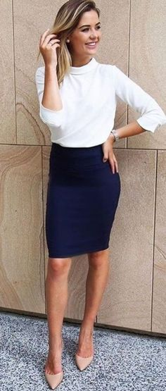 Awesome 48 Casual Blouse and Skirt for Work to Look of the Day http://clothme.net/2018/04/08/48-casual-blouse-and-skirt-for-work-to-look-of-the-day/